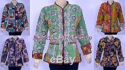 10 Pc Vintage Cotton Kantha Women Jacket / Coat Reversible Quilted Wholesale Lot