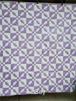 (102) SUPER DOUBLE DRAGONFLY Vintage Quilt HANDMADE