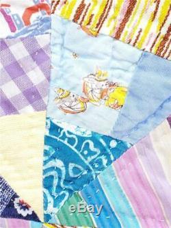 (301) Stunning 8 Eight Point Star Vintage Quilt Handmade