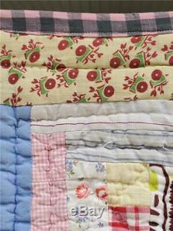 (64) VERY NICE Vintage Quilt BARN RAISING Handmade