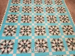 66Vintage Pinwheel Handmade Hand quilted Star of LeMoyne Quilt
