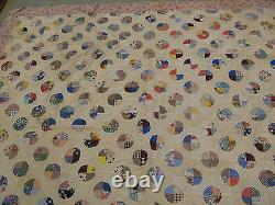 Antique American King Sized Quilt Very Fine Hand Stitched 80 x 88