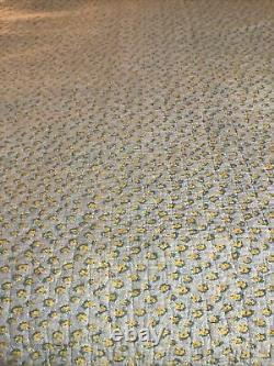 Antique Handmade Quilt With Wonderful Old Vintage Fabric 8 Point Star Design