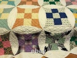 Antique Patchwork Hand Quilted Quilt 88 x 72 inches