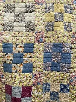 Antique Vintage Handmade Quilt