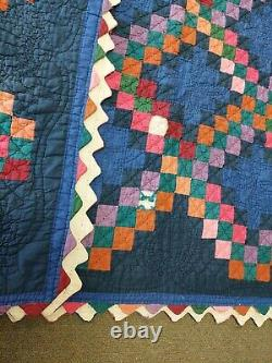Antique Vintage Handmade Quilt Hand Stitched