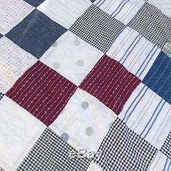 Antique Vintage Quilt Handmade Patchwork Calico Dress Shirts Work Wear Stifel
