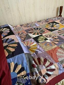 Exquisite Handmade Duvet Quilt Vintage Big Flowers Full/Queen Various Fabrics