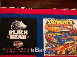 Handmade Quilt of vintage Harley Davidson and Sturgis t-shirts