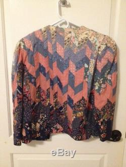 Handmade Vintage Quilted Jacket-WELL-MADE, EXCELLENT QUALITY