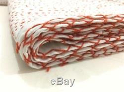 Kantha Quilt Bedspread Cotton Handmade Patchwork Indian Blanket King Size, Crazy