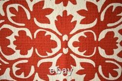 MUSEUM QUALITY Vintage PA Scherenschnitte Red & White Applique Antique Quilt