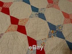 Pontiac Star Kite Quilt Handmade Hand Quilted Vintage Feedsack Flour Sack