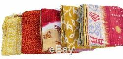 Reversible Vintage Kantha Quilts WHOLESALE LOT 10 PC Heavy Gudri Throws Blankets