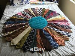 Tie quilt, vintage and handmade