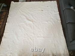 VINTAGE 1960s FAN PATTERN QUILT HAND QUILTED GRANDMA 91x81 PLEASE READ