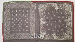 VINTAGE BANDANA HANDMADE QUILT 1950s TIGER FAST COLOR 8 STITCHED HANDKERCHIEFS