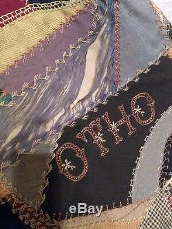 Vintage 1915 hand made crazy quilt