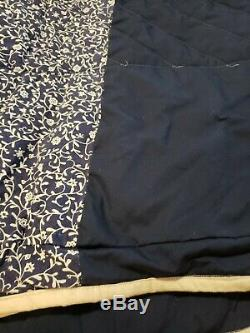 Vintage Amish Patch Work Quilt King Size Hand Made 109 x 118