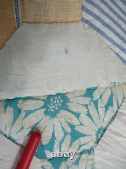 Vintage BOW TIE Feed Sack QUILT 78 x 86 Handmade Handsewn Pretty