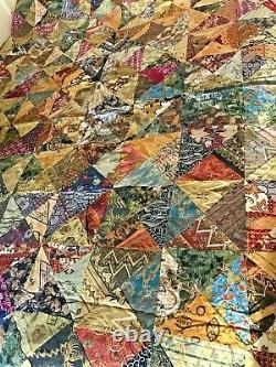 Vintage Balinese Batik Handmade Patchwork Coverlet