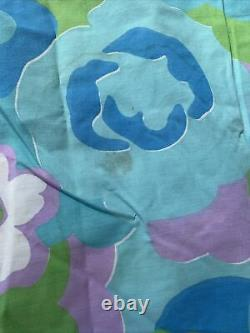 Vintage Farmhouse Handmade Patchwork Quilt Squares Amazing Large 99 X 92
