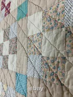 Vintage Hand Made Sewn Patchwork Quilt Squares