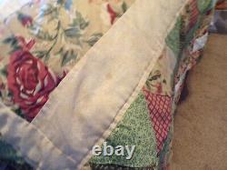 Vintage Hand Stitched Handmade Star Pattern Quilt 98 x 91 Queen