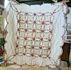Vintage Handmade Coat Folk Art Patchwork Quilt Amish Sarasota Florida (6)
