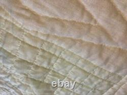 Vintage Handmade Hand Quilted Hand Cross Stitched Quilt Multicolor 78 x 100