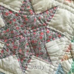 Vintage Handmade Heirloom Patchwork Floral Quilt