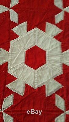 Vintage Handmade Patchwork Quilt