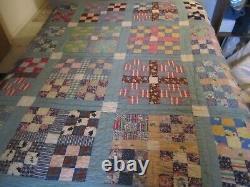 Vintage Handmade Quilt 70 x 75