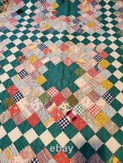 Vintage Handmade Quilt Top 73×94
