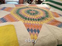 Vintage Handmade Texas Star Quilt