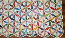 Vintage JOSEPHS COAT OF MANY COLORS PATCHWORK QUILT ALL HANDMADE Large Sz