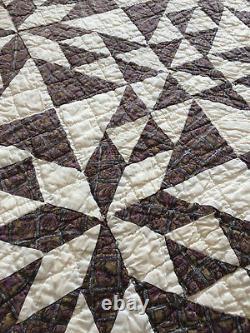 Vintage Kentucky Quilt Beautiful Full sized Geometric Triangle Pattern