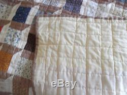 Vintage Large Handmade Attic Windows Quilt From The Collection Of Louise Howey