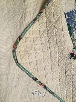 Vintage Quilt. 6 Point Star. Handmade