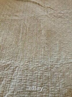 Vintage Quilt Hand Made Tiny Squares 76 x 88 PERFECT CONDITION