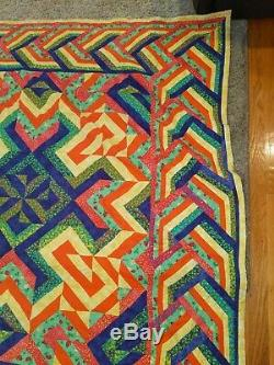 Vintage Quilt Hand Made great design and sparkles 60 x 65