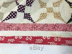Vintage Quilt Handmade Hand Sewn Quilt 82 X 72