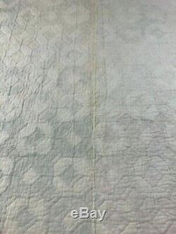 Vintage Quilt Handmade Hand Sewn Snail Trail 79 x 70