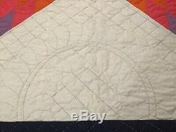 Vintage Quilt. Lone Star. Handmade