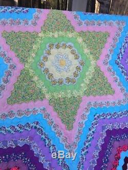Vintage handmade Star Motif quilt