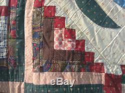 Vintage handmade queen size quilt