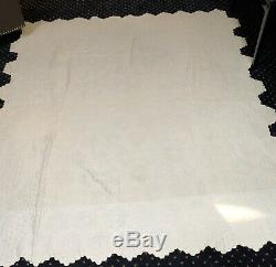 WW2 Vintage Grandmothers Quilt W Pillow Coverlet Museum Qlty Hand Made Signed NR