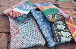 Wholesale Lot of 50 pcs vintage kantha Pouches Handmade cotton Makeup Bags